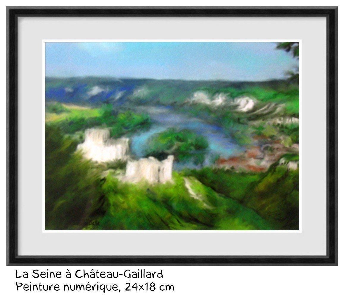 chateau Gaillard les Andelys Serverine Dalla artiste peintre et illustratrice