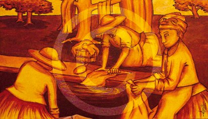 artiste peintre emili Loriel à la galerie d'art contemporain styl'art cadre galerie à Gaillon en normandie