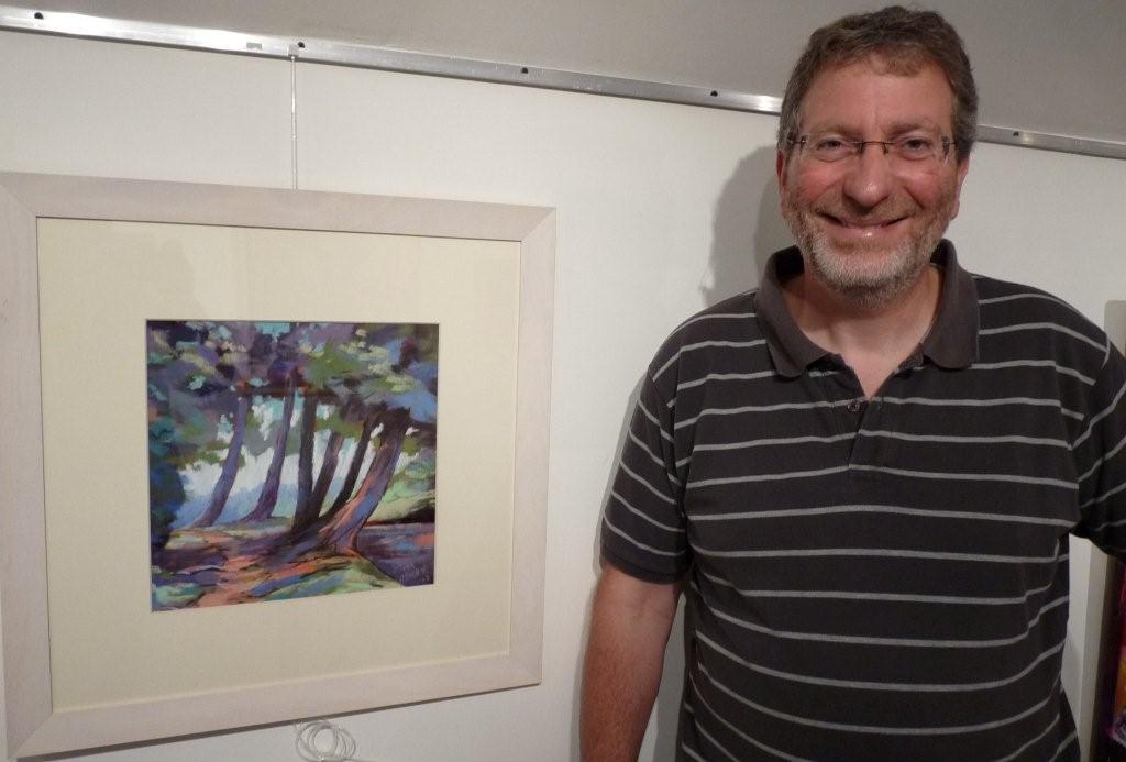artiste pastelliste Patrick Henry expose à la galerie d'art Styl'art cadre