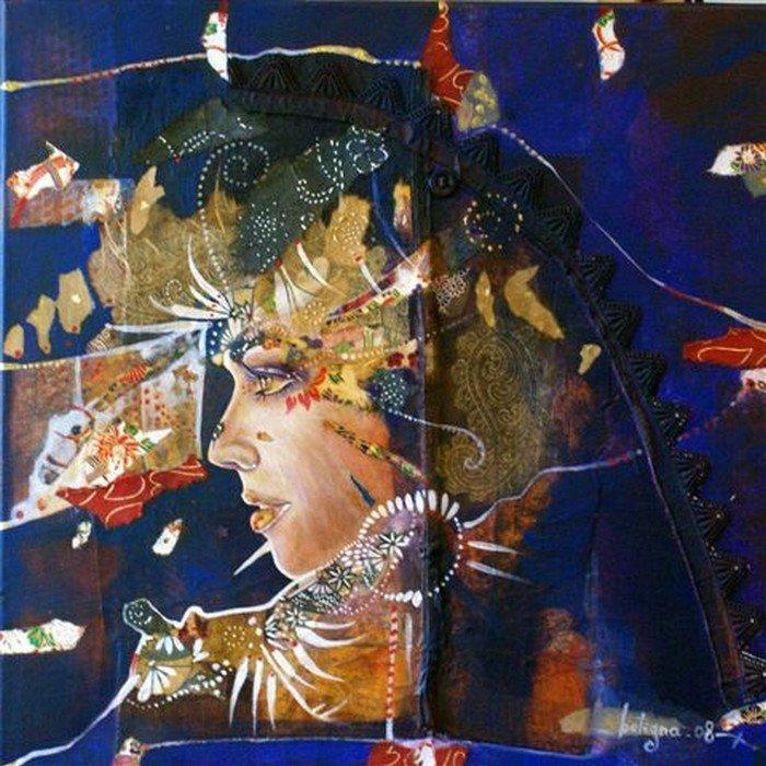 Sandrine Botigna exposition a la galerie d'art Styl'art cadre en Normandie