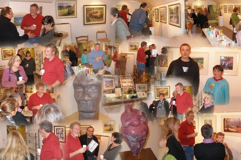 vernissage exposition Patrick Henry pastelliste