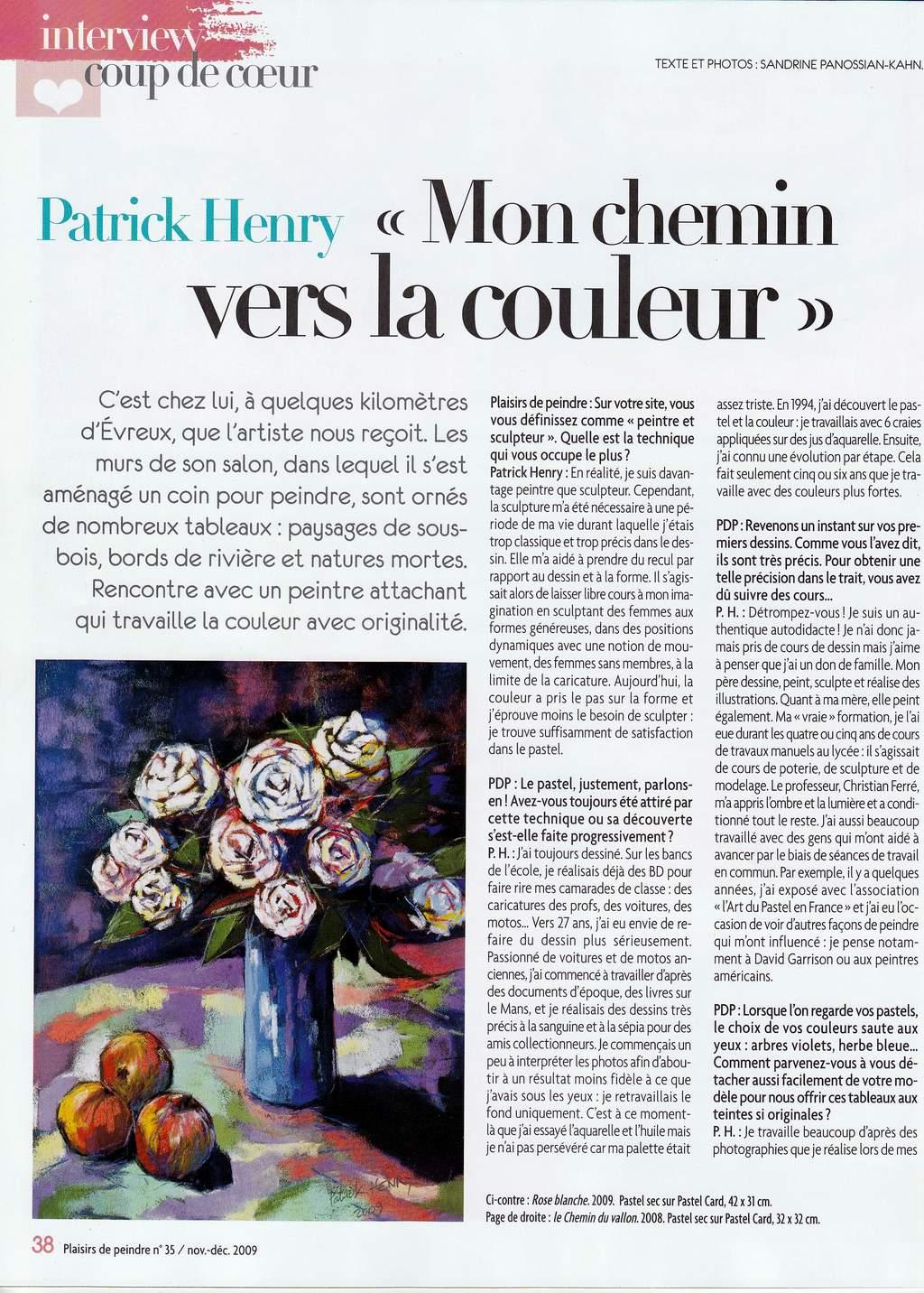 coup de coeur de Plaisirs de peindre interview Patrick Henry