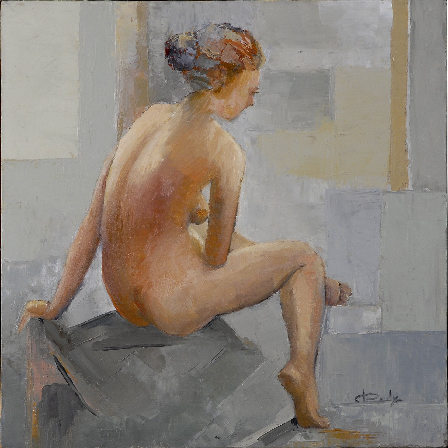 nu de l'artiste peintre Sylvie Caroly