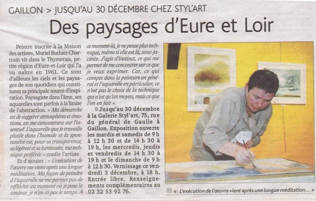exposition aquarelle en Normandie Muriel Buthier Chartrain